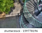 hdr view of spiral staircase in ... | Shutterstock . vector #159778196