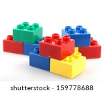 building blocks isolated on... | Shutterstock . vector #159778688