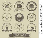 fast food vintage label | Shutterstock .eps vector #159779768