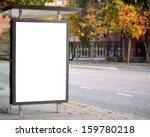 blank billboard on city bus... | Shutterstock . vector #159780218
