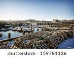 Winter Harbour Scene Snow Crab...