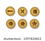 top view of variation of gold...   Shutterstock .eps vector #1597820812