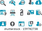 vector icons pack   blue series ... | Shutterstock .eps vector #159782738