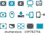 vector icons pack   blue series ... | Shutterstock .eps vector #159782756