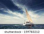 sailing ship yachts with white... | Shutterstock . vector #159783212
