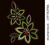 Floral Vector Embroidery - fully editable