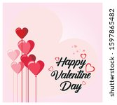 happy valentine day greeting... | Shutterstock .eps vector #1597865482