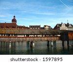 Aspect of the city Luzern, Schweiz. - stock photo