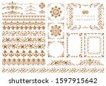 set of vintage design elements | Shutterstock . vector #1597915642
