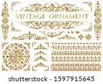 set of vintage design elements | Shutterstock . vector #1597915645