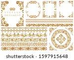 set of vintage design elements | Shutterstock . vector #1597915648