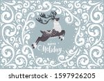 merry christmas and happy new... | Shutterstock .eps vector #1597926205