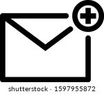 simple flat icon email add