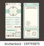 vintage style boarding pass... | Shutterstock .eps vector #159795875