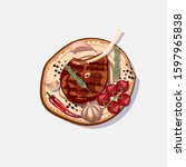 vector food illustration with...   Shutterstock .eps vector #1597965838