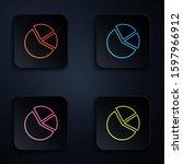 color neon line pie chart...