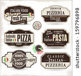 pizza labels and badges  | Shutterstock .eps vector #159796898