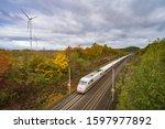High Speed Train Crosses...