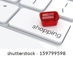Shopping Basket Isolated On Th...