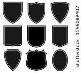 set of shields vector coat arms ... | Shutterstock .eps vector #1598089402