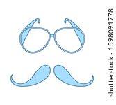 glasses and mustache icon. thin ...