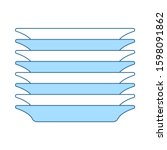 plate stack icon. thin line...