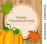 thanksgiving card  | Shutterstock .eps vector #159810422