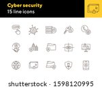 Cyber Security Line Icon Set....