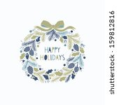 greeting card with a festive... | Shutterstock .eps vector #159812816