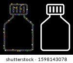 Glowing Mesh Phial Icon With...