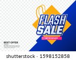 flash sale promotion banner... | Shutterstock .eps vector #1598152858