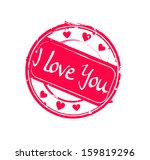 """""""i love you"""" retro pink round... 