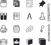 paper vector icon set such as ... | Shutterstock .eps vector #1598209972