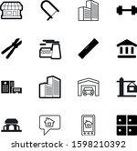 building vector icon set such...