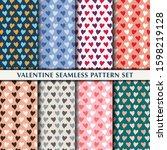valentine seamless pattern...   Shutterstock .eps vector #1598219128