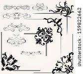 set of calligraphic design... | Shutterstock . vector #159822662