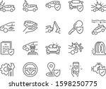car insurance icon set.... | Shutterstock .eps vector #1598250775
