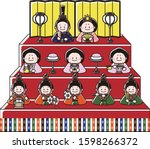 A Set Of Ornamental Dolls For...