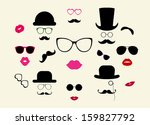 lady and gentleman icon set   Shutterstock .eps vector #159827792