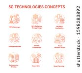 5g technologies concept icons...   Shutterstock .eps vector #1598283892