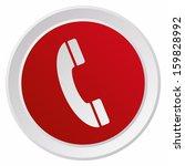 telephone  grx btn metallic ... | Shutterstock .eps vector #159828992