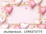 happy valentines day banner. 3d ...   Shutterstock .eps vector #1598373775