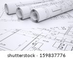 architectural drawings. flat... | Shutterstock . vector #159837776