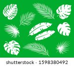 tropical summerset of abstract... | Shutterstock .eps vector #1598380492