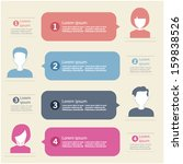people icons with chat speech... | Shutterstock .eps vector #159838526