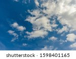 blue sky with white clouds, tonemap