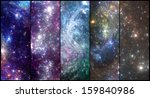 Stars background banners pack - stock photo