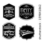merry christmas and happy new... | Shutterstock .eps vector #159841862