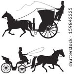 horse taxicab vector... | Shutterstock .eps vector #159842225