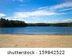 Beach And Lake  Walden Pond
